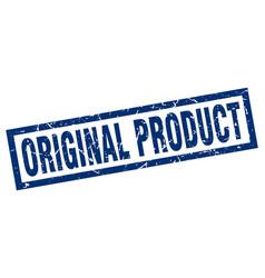 Square grunge blue original product stamp vector