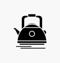 tea kettle teapot camping pot glyph icon isolated vector image