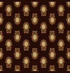 teddy bear seamless art brown simple pattern vector image