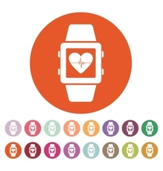 The smart watch icon Fitness bracelet symbol vector
