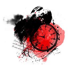 trash polka clock vector image
