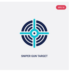 Two color sniper gun target icon from general vector