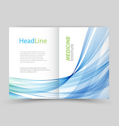 Two fold business flyer template vector