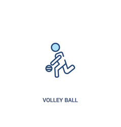 Volley ball concept 2 colored icon simple line vector