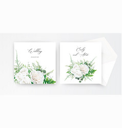 Wedding invite invitation card floral design vector