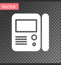 White house intercom system icon isolated on vector