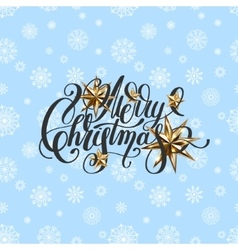 Winter design with holiday lights golden stars vector