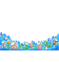 winter landscape composition on white background vector image vector image