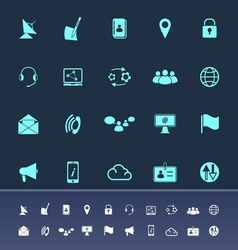 Communication color icons on navy background vector image vector image