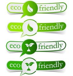 Eco friendly green tags vector image vector image