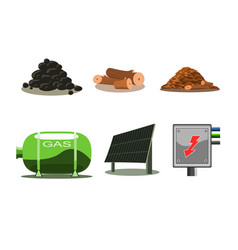 icons set - fuel vector image