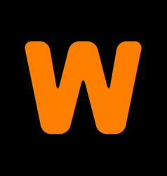 letter w sign design template element orange icon vector image