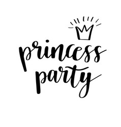 princess party bridal shower card design birthday vector image vector image