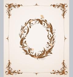 retro vintage letter in a frame vector image