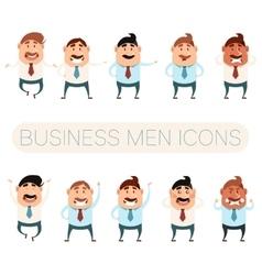 Set of business men6 vector image vector image