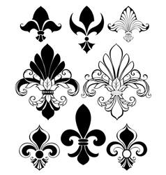 Set of Fleur De Lis vector image vector image