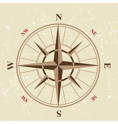 Vintage compass icon vector