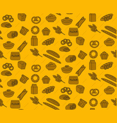 Bakery products seamless pattern with bread loaf vector