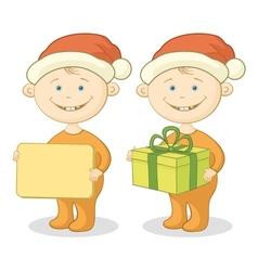 Children Santa Claus vector image