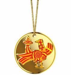 gold locket vector image vector image