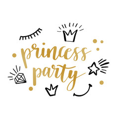 princess party card design vector image vector image