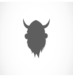 Silhouette of viking avatar vector image