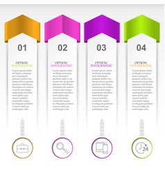 the layout for the infographic vector image vector image