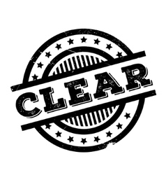 Clear rubber stamp vector