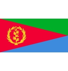 Flag of Eritrea in correct proportions and colors vector image vector image