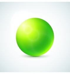 Green glossy sphere isolated on white vector image vector image