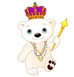 Mardi Gras Polar Bear vector image