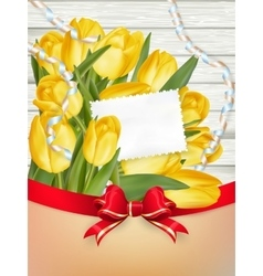 Paper card with tulips EPS 10 vector image