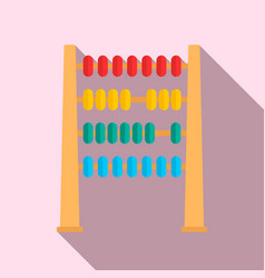 Abacus wood toy icon flat style vector