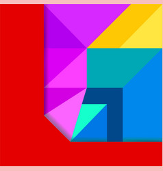 abstract background with colorful geometric figure vector image
