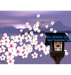 Abstract Japanese Landscape vector image