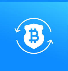 bitcoin secure exchange icon vector image