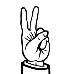 Black and white peace sign vector image