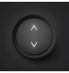 Black button with arrows vector