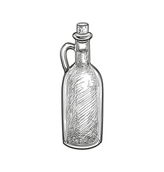 Bottle olive oil vector