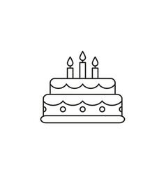 cake birthday icon vector image