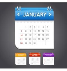 Calendar january vector