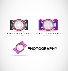 Camera photography logo vector