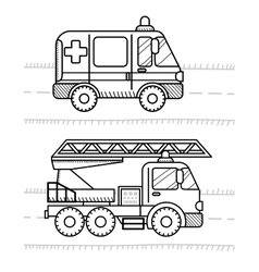 Cars and vehicles coloring book for your kids vector