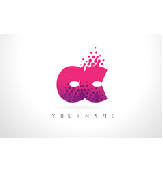 Cc c c letter logo with pink purple color and vector