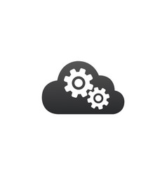 cloud computing settings icon flat style sign for vector image