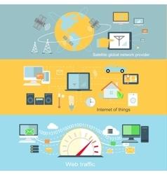 Concept of Internet Globalization vector image