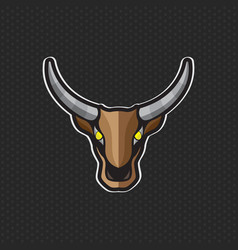 Cow logo design template cow head icon vector