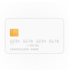 credit card mockup vector image