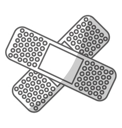 crossed bandages icon image vector image