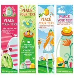 cute Easter banners vector image